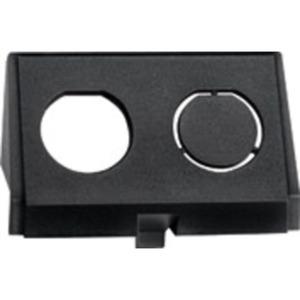Einschub für Twinax - Buchse  schwarz