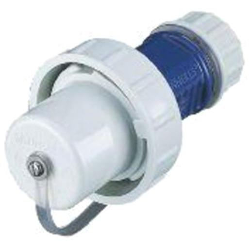 wasserdicht IP68 B-Ware Schuko-Stecker 16A blau 230V