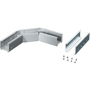 Kabelträger - Winkelstück Breite 100 mm verstellbar grau