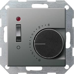 Gira RTR 230 V mit Öffner+Schalter für E22 Edelstahl
