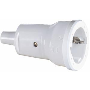 SCHUKO-Kupplung PVC weiß