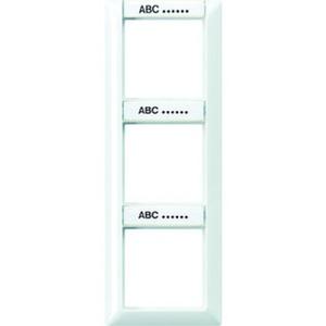 Jung Rahmen 3fach Schriftfelder 13/12,4 x 55,5 mm f. senkrechte Kombination