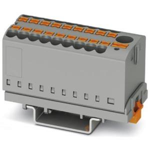 Verteilerblock senkrecht mit integrierter Einspeisung 19 x 2,5mm² schwarz/gelb