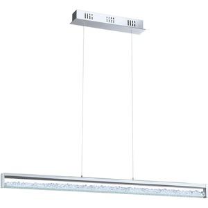 eglo 90929 pendelleuchte cardito chrom glas klar mit kristallen 6x6w led sch cke. Black Bedroom Furniture Sets. Home Design Ideas