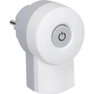 Stecker mit 2-poligem Schalter weiß