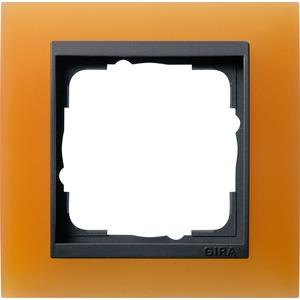 1-fach Abdeckrahmen für anthrazit Event Opak orange