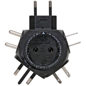 Kopp Travelstart Reise-Stecker-Adapter für Euro- und Kontruenstecker 5 Stecksysteme