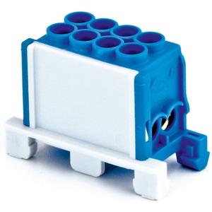 Hauptleiteranschlussklemme 1-pol. 2x 25mm² + 2x 16mm² berührungssicher blau