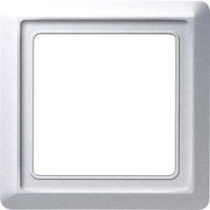 Abdeckrahmen Allwetter 1-fach Aluminium glänzend