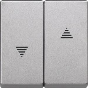 Wippe für Rollladenschalter und -taster aluminium