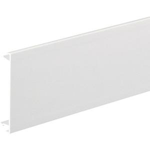 Brüstungskanal-Oberteil aus PVC zu BRN mit Oberteilbreite 80mm cremeweiß