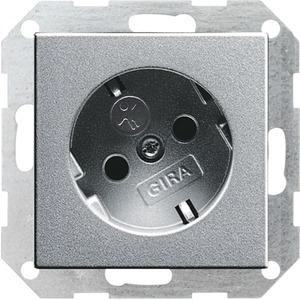 SCHUKO-Steckdose KS 30 Grad für System 55 Aluminium