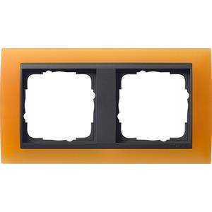 2-fach Abdeckrahmen für anthrazit Event Opak orange