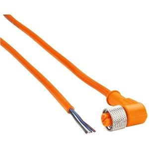 Steckverbindung gewinkelt 4-polig - 5 M orange - M12