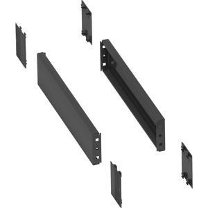 2 Seitenwände für Sockel 300x100mm mit gefalztes Stahlblech RAL 7022 IP 30 IK10
