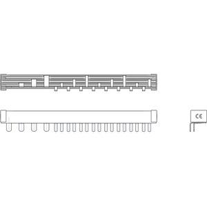 Phasenschiene 1xFI-4P/Rest N+1 (Schmalbau 1TE) = 12TE für Wohnungsverteiler