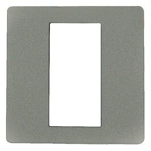 Dekorblende für Fingerscanner Unterputz weiß Aluminium 50 x 50 mm