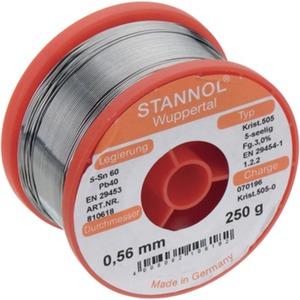 Lötdraht Sn60/Pb40 Crystal 505 - dm = 0,71 mm 250 g