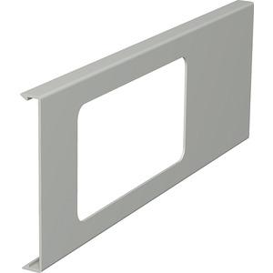 Oberteil für Geräteeinbau 2fach 110x300mm PVC reinweiß RAL 9010