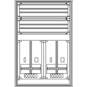 Kunststoff-Zählerverteiler 550x829x225 mm