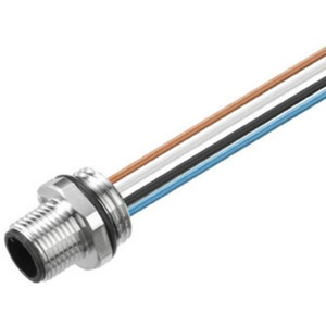 Einbaustecker 8-polig PG 9/M12 Stift gerade