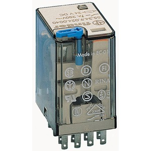 Industrierelais steckbar 4W 7A 24VDC Prüftaste mech.Anzeige Serie 55