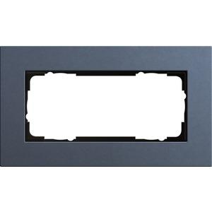 2-fach Abdeckrahmen ohne Mittelsteg für Esprit Linoleum-Multiplex blau