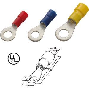Ringkabelschuh isoliert 2,5 - 6 mm² M6 Nylon gelb DIN 46237
