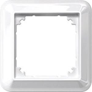 Abdeckrahmen 1-fach weiß glänzend
