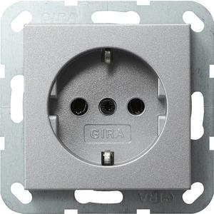 Gira SCHUKO-Steckdose für System 55 Aluminium