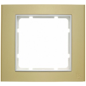 Rahmen B3 1-fach Gold/Polarweiß