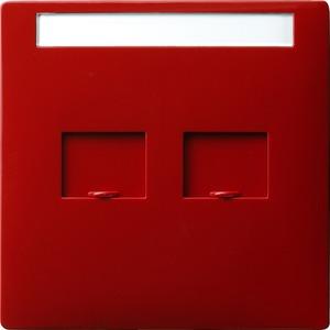 Abdeckung Modular Jack beschriftbar für S-Color rot