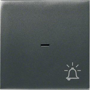 Wippe mit Kontrollfenster und Klingel-Symbol Anthrazit