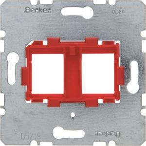 Tragplatte mit roter Aufnahme 2fach Modul Einsatz
