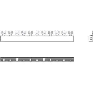 Phasenschiene 1xFI-4P/3xLS-1P/2xLS-1P+N(2TE) = 11TE