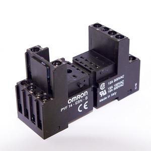 Sockel schwarz für DIN-Schiene für M2 + MY4 Fahrstuhl-Schraubklemmen