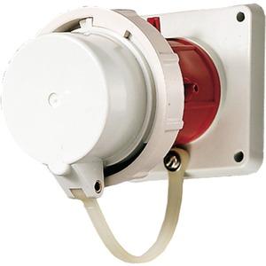 CEE-Anbaugerätestecker 63A 5p 400V 6h IP67 mit Schutzkappe