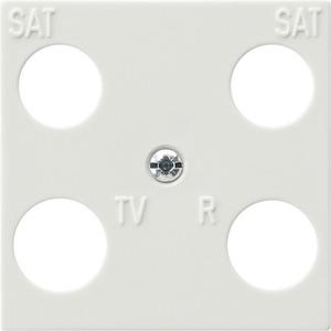 Zentralplatte 4-fach Hirschmann für S-Color reinweiß