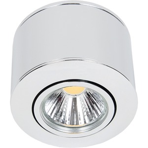 LED Aufbaustrahler A 5068 chrom 8W warmweiß 38° mit BG