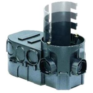 Electronic-Dose 1068-02 Zweikammerdose mit Trennwand UP Tiefe 63 mm