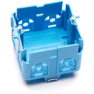 Geräteeinbau Brüstungskanal SIGNO Geräteeinbaudose blau
