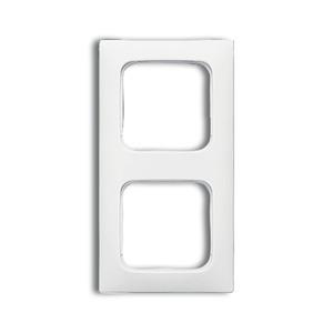 Abdeckrahmen 2-fach Linear-102 weiß glänzend Reflex SI
