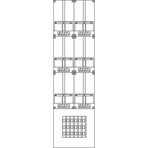 Kunststoff-Zählergerüst 420x1510x137 mm