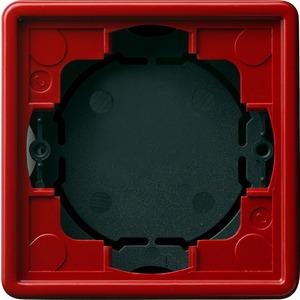 Aufputz-Gehäuse 1-fach flach für S-Color rot