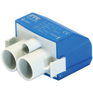 Mastanschlussklemme 1-pol. 2 Anschlüsse blau