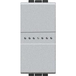 LIVINGLIGHT Taster 250V AC 10A 1-modulig Aluminium