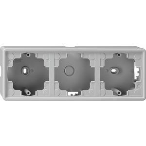 Aufputz-Gehäuse 3-fach für S-Color grau
