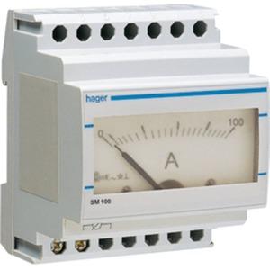 Hager Analog-Amperemeter für Wandlermessung 0-100 A