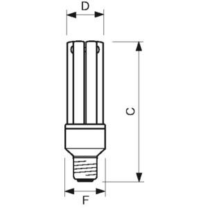 Energiesparlampe PL-E 23 W 827 E27 240 V
