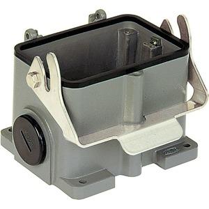 Sockelgehäuse 48 B Han B M40 2xHohe Bauform Längsbügel pulverbeschichtet